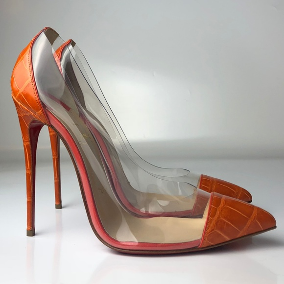 1fbd4323442 Christian Louboutin Debout 120 Croco Embossed 38 NWT